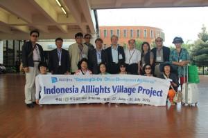 インドネシアに到着した韓国京畿道の代表団