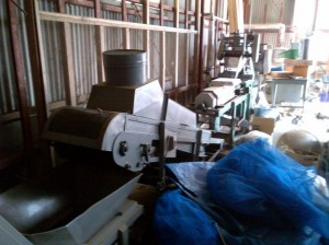 桑の葉茶の製茶機械