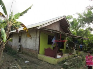 レバンサリ村の家屋