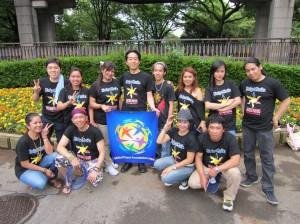 GPFJapanボランティアとして活躍してくれたフィリピンの方々。皆の笑顔がきれいです。ありがとうございました
