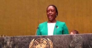 ライラ・オディンガケニア共和国前首相の娘ローズ・オディンガ氏によるスピーチ