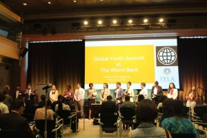世界銀行では多くの青年によるユースサミットが開催されました