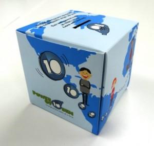 パワーオブ10センの募金箱