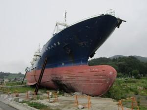 津波で打ち上げられた漁船「第十八共徳丸」は解体が決定した