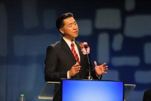 GPCのフィリピンでの開催の意義を述べるヒョンジン・P・ムンGPF理事長