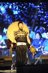 グローバルユースサミットの様子 日本の和太鼓のパフォーマンスで開幕