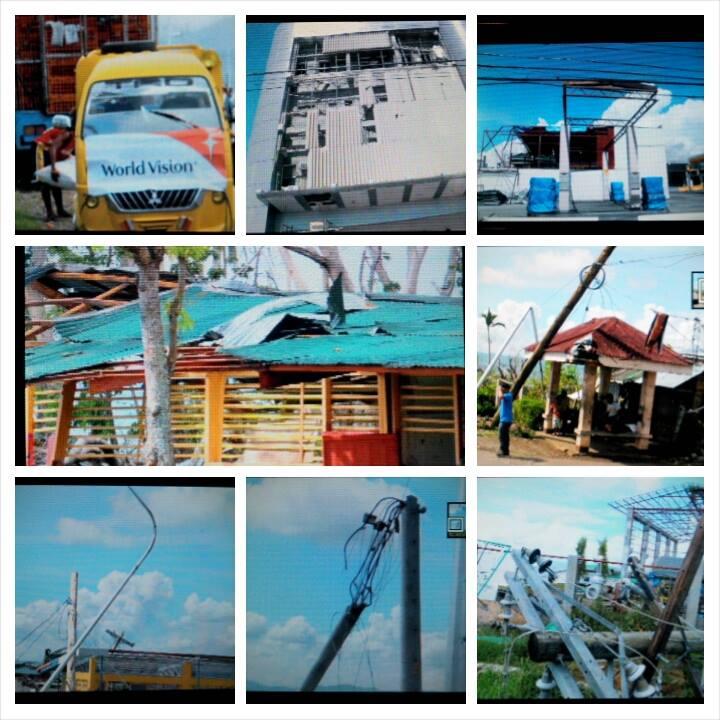 12月6日、オルモック市は台風の強風で破壊された家屋や電柱などがそのままの状態で放置されていました。