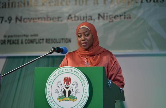 Hajiya Amina Namadi Sambo副大統領夫人の挨拶