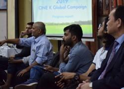 インドでのワンコリア国際フォーラムにて、ワンコリア・グローバルキャンペーンのプロジェクトが紹介される