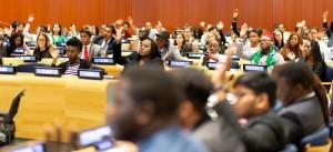 この日、国連本部には46カ国から青年指導者が集まった