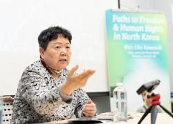 北朝鮮での経験を語る川崎栄子氏