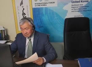 前モンゴル国連大使であり、そしてワンコリア国際フォーラムの共同開催者 ブルー・バナー会長のジャガルサイカン・エンクサイカン氏